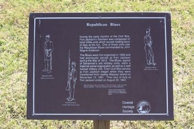 Republican Blues Marker image. Click for full size.
