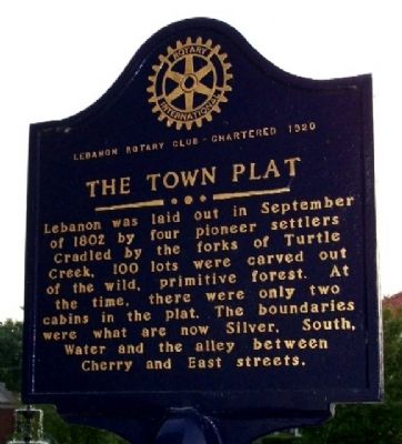 The Town Plat Marker (Side A) image. Click for full size.