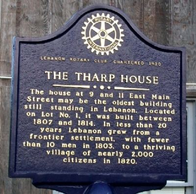 The Tharp House Marker (Side B) image. Click for full size.