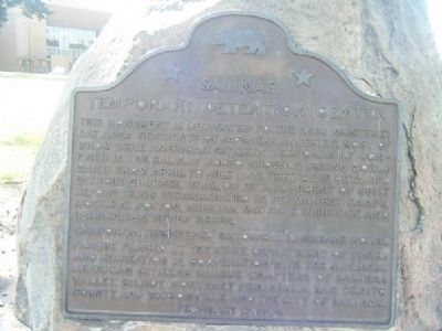 Salinas Temporary Detention Center Marker image. Click for full size.