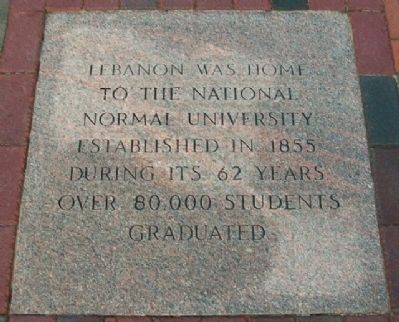National Normal University Marker image. Click for full size.
