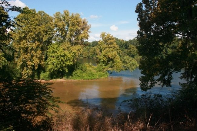 The Cahaba River Meeting The Alabama River. Dallas County, Alabama image. Click for full size.