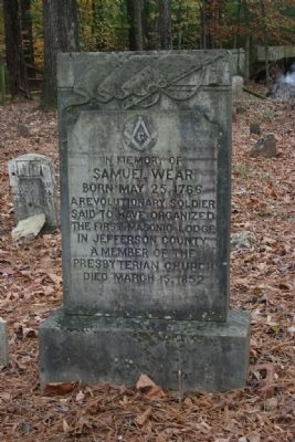 Samuel Wear's Gravestone image. Click for full size.
