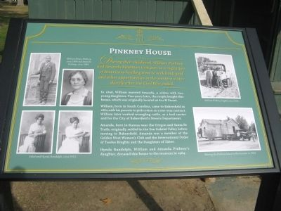 Pinkney House Marker image. Click for full size.