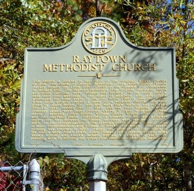 Raytown Methodist Church Marker image. Click for full size.
