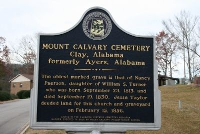Mount Calvary Cemetery Marker image. Click for full size.