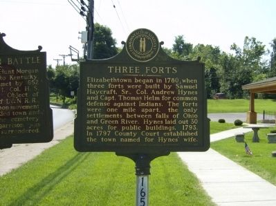 Three Forts Marker image. Click for full size.