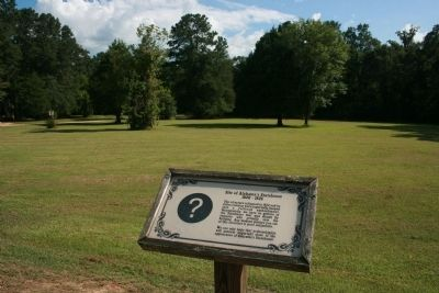 Site of Alabama's First Statehouse 1820-1825 image. Click for full size.