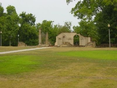 Site and Ruins of Alabama's Second Statehouse 1826-1846 in Tuscaloosa image. Click for full size.