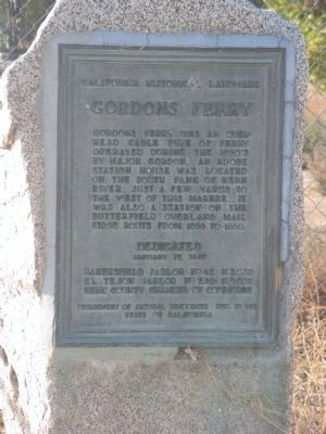 Gordons Ferry Marker image. Click for full size.
