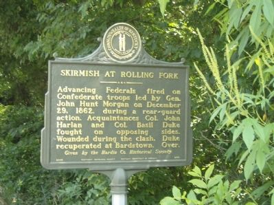 Skirmish at Rolling Fork Marker image. Click for full size.