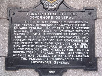 Former Palace of the Governors General Marker image. Click for full size.