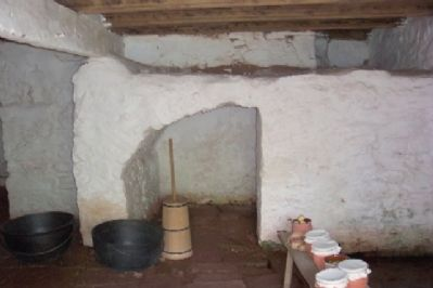 Daniel Boone Homestead Cellar image. Click for full size.