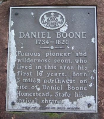 Daniel Boone Marker image. Click for full size.