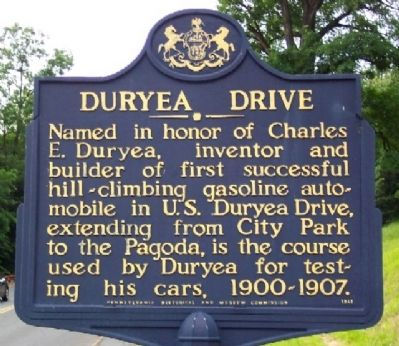 Duryea Drive Marker image. Click for full size.