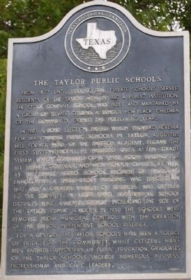 The Taylor Public Schools Marker image. Click for full size.