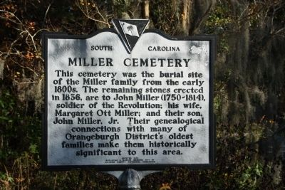 Miller Cemetery Marker image. Click for full size.
