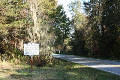 Miller Cemetery Marker, seen along Waterspring Road, looking east image. Click for full size.