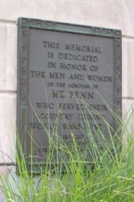 Mt. Penn World War Memorial Marker image. Click for full size.