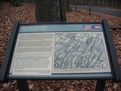The Civil War in the South Branch Valley Marker image. Click for full size.