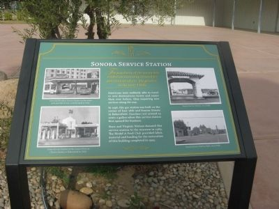 Sonora Service Station Marker image. Click for full size.