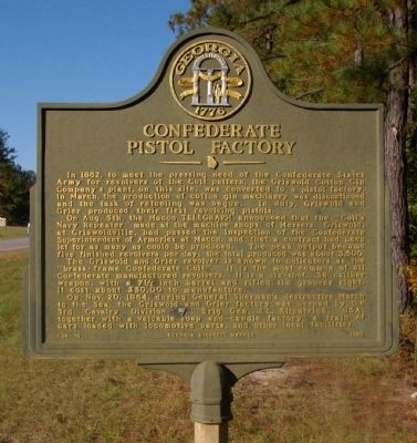 Confederate Pistol Factory Marker image. Click for full size.