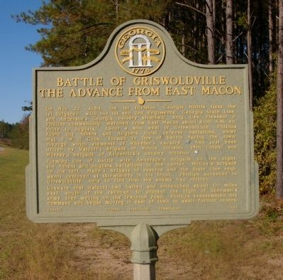 Battle of Griswoldville The Advance from East Macon Marker image. Click for full size.
