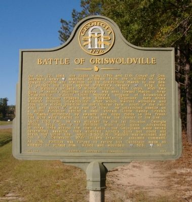 Battle of Griswoldville Marker image. Click for full size.