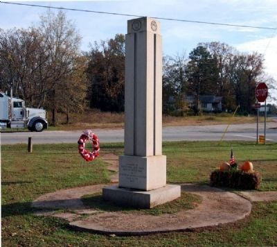 Calhoun Falls World War I and II Veterans Monument - North Side image. Click for full size.