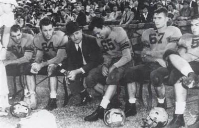 Frank Howard with His Team<br>Head Coach from 1940 to 1969 image. Click for full size.
