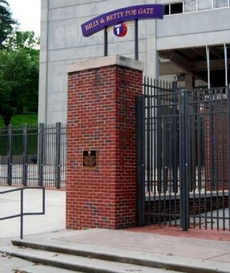 Billy & Betty Poe Gate -<br>Memorial Stadium Gate 1 image. Click for full size.