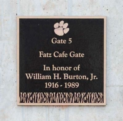 Fatz Cafe Gate -<br>Memorial Stadium Gate 5 image. Click for full size.