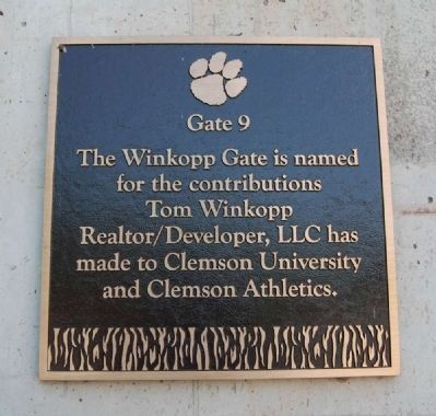 The Winkopp Gate -<br>Memorial Stadium Gate 9 image. Click for full size.