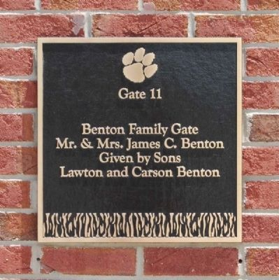 The Benton Family Gate -<br>Memorial Stadium Gate 11 image. Click for full size.