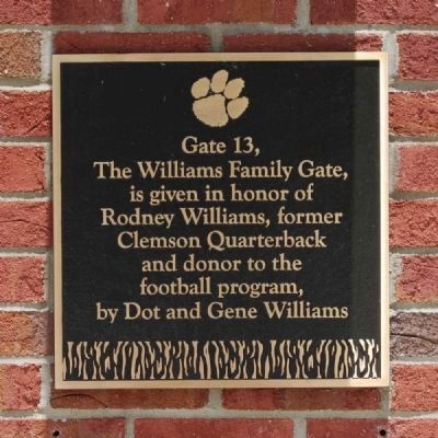 The Williams Family Gate -<br>Memorial Stadium Gate 13 image. Click for full size.