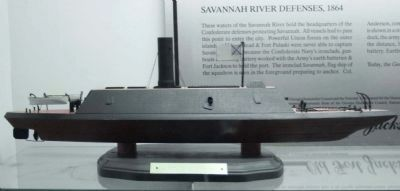 "CSS Savannah model of the ""Mosquito Fleet"" image. Click for full size."