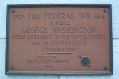 The Federal Inn DAR Marker image. Click for full size.