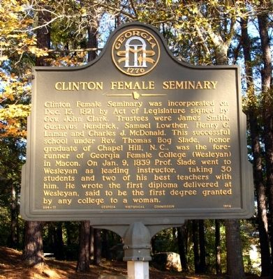 Clinton Female Seminary Marker image. Click for full size.