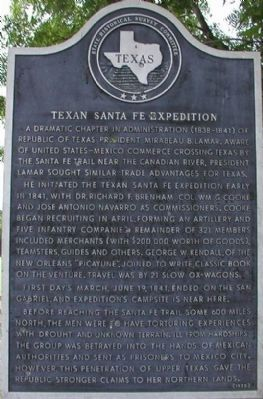 Texan Santa Fe Expedition Marker image. Click for full size.