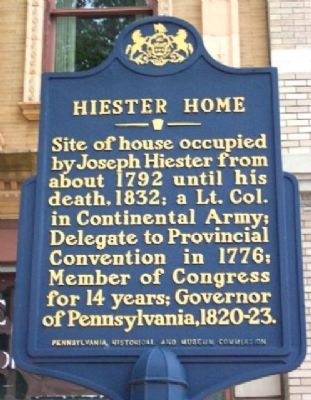 Hiester Home Marker image. Click for full size.