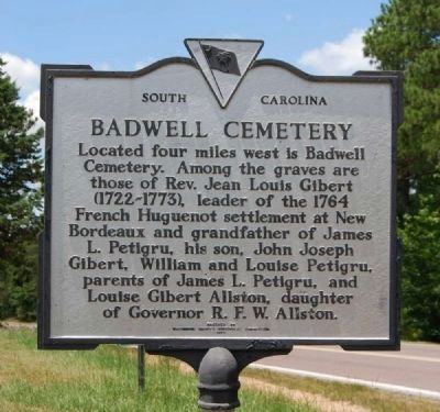 Badwell Cemetery Marker image. Click for full size.