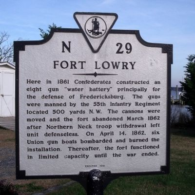 Fort Lowry Marker image. Click for full size.