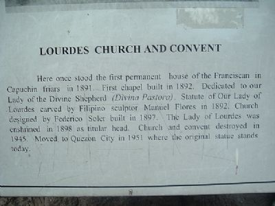 Lourdes Church and Convent Marker image. Click for full size.