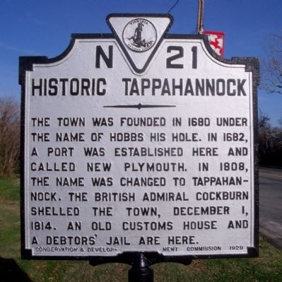 Historic Tappahannock Marker image. Click for full size.