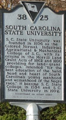 South Carolina State University Marker image. Click for full size.