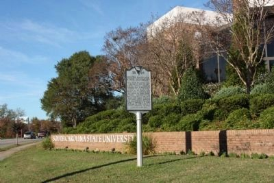 South Carolina State University Marker, looking north image. Click for full size.