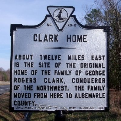Clark Home Marker image. Click for full size.