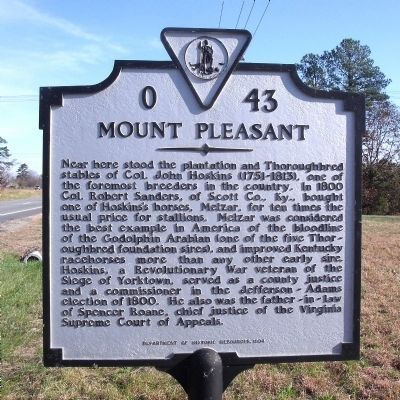 Mount Pleasant Marker image. Click for full size.
