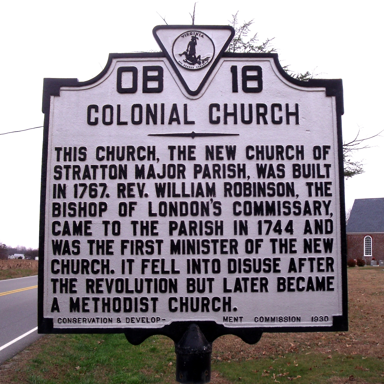 Colonial Church Marker
