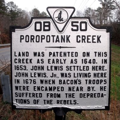 Poropotank Creek Marker image. Click for full size.